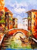 意大利油画威尼斯 库存图片