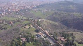 意大利波隆纳城市风景鸟瞰图 影视素材