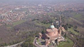 意大利波隆纳城市风景鸟瞰图 股票录像