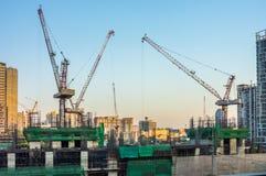 意大利泰国发展PCL在民用工作的建筑介入在泰国 库存图片
