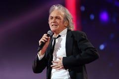 意大利流行音乐歌手里卡尔多Fogli 库存图片