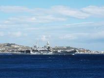 意大利海军航空母舰Carvour 免版税库存照片