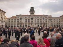 意大利海军音乐带  库存图片