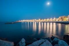 意大利海滨村庄 库存照片