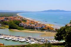 意大利海边镇 免版税库存照片