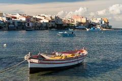 意大利渔村 库存图片