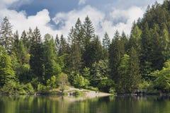 意大利湖和阿尔卑斯 图库摄影
