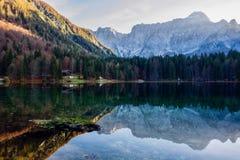 意大利湖Fusino 库存图片