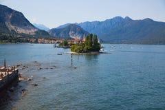 意大利湖maggiore Isola Bella海岛 库存图片