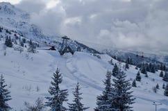 意大利滑雪胜地Passo del Tonale 免版税库存照片