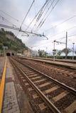 意大利火车平台 免版税图库摄影