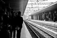 意大利火车平台 免版税库存照片