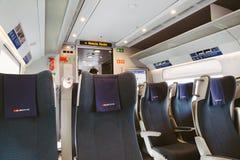 意大利火车的内部 库存图片