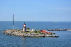 意大利灯塔和防堤 免版税库存照片