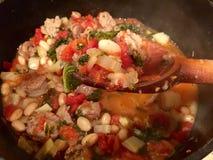意大利炖煮的食物 库存图片