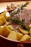 意大利烤羊肉 免版税库存图片