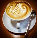 意大利热奶咖啡 免版税图库摄影