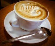 意大利热奶咖啡 库存图片