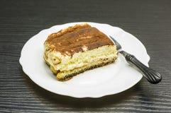 意大利烹调纤巧-提拉米苏点心 免版税库存图片