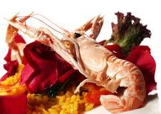 意大利煨饭海鲜 免版税库存图片