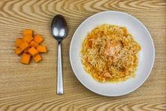意大利煨饭用南瓜 免版税库存图片