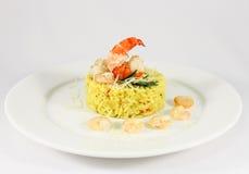 意大利煨饭用皇家虾4 图库摄影