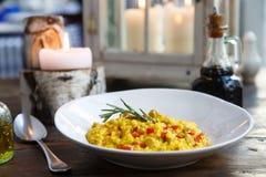 意大利煨饭用红色甜椒 免版税图库摄影