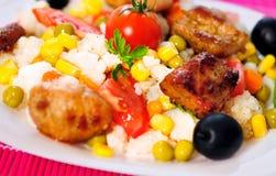 意大利煨饭用肉 库存照片