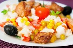 意大利煨饭用肉 免版税库存照片