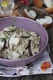 意大利煨饭用蘑菇。 库存照片