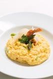 意大利煨饭用虾和帕尔马干酪 免版税库存照片