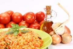 意大利煨饭蕃茄 库存图片