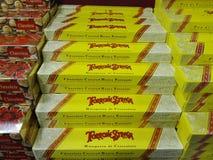 意大利牛乳糖在超级市场 免版税库存照片
