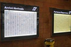 意大利状态铁路火车时间委员会 免版税库存图片