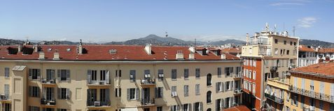 从意大利的全景城市视图 免版税库存照片