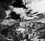 意大利的南部的Matera 免版税库存照片