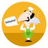 说意大利的厨师Belissimo 免版税图库摄影