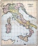意大利的古色古香的地图 库存图片