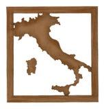 意大利的地图 免版税库存照片