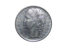 意大利的硬币100里拉 库存照片