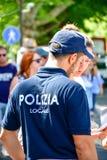 意大利的细节 英俊的意大利警察 免版税库存图片