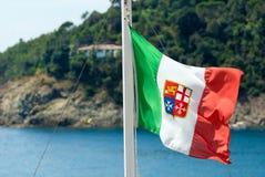 意大利的船舶旗子 库存图片