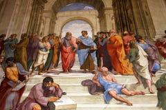 意大利的艺术在梵蒂冈 库存照片