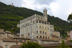 意大利的Palazzo dei Consoli,古比奥 图库摄影