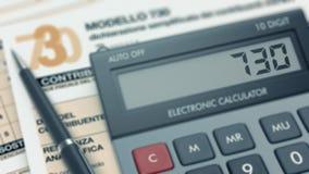 意大利税概念 免版税图库摄影
