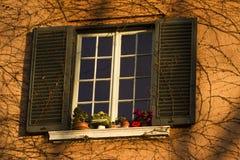装饰的窗口 免版税库存照片