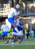 意大利符合mclean橄榄球萨摩亚测试与 库存照片