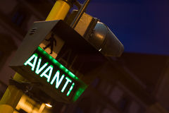 意大利红绿灯为 免版税图库摄影