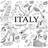 意大利线艺术设计传染媒介例证 库存照片