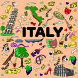 意大利线艺术设计传染媒介例证 免版税图库摄影